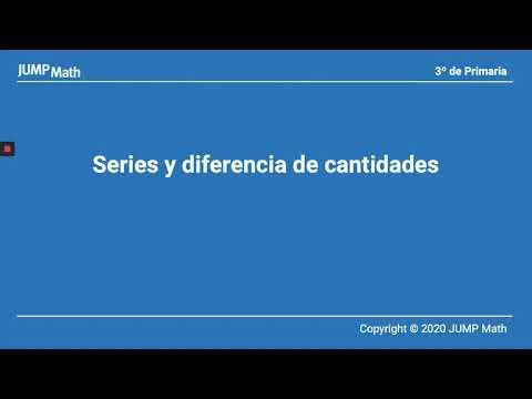 3º. Unidad 1. Series y diferencias