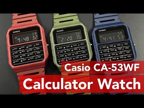ของมันต้องมี !! นาฬิกาเครื่องคิดเลข สไตล์ Vintage สีใหม่ล่าสุด Casio  Calculator รุ่น CA-53WF [424]
