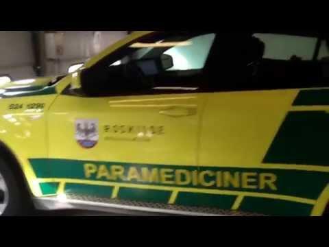 Paramediciner bil fra Roskilde Brandvæsen