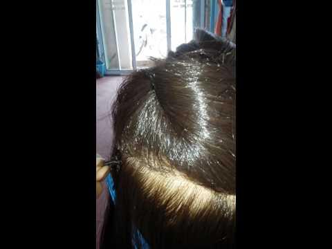 kỹ thuật nối tóc 1 ng ko cần phụ