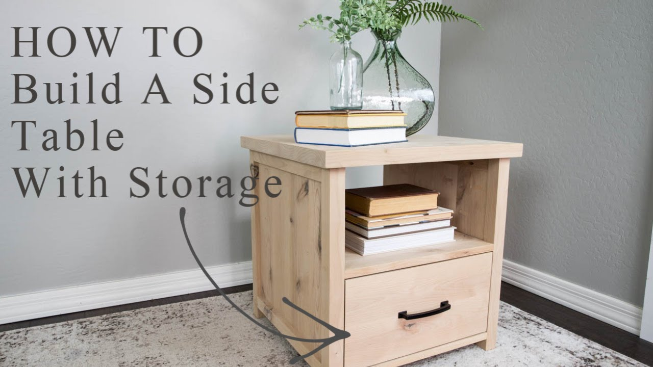How To Build A Side Table With Storage - Addicted 2 DIY
