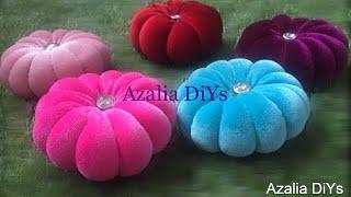 DIY Velvet Flower Cushion.