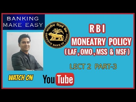 RBI MONETARY POLICY LECT-2  PART-3