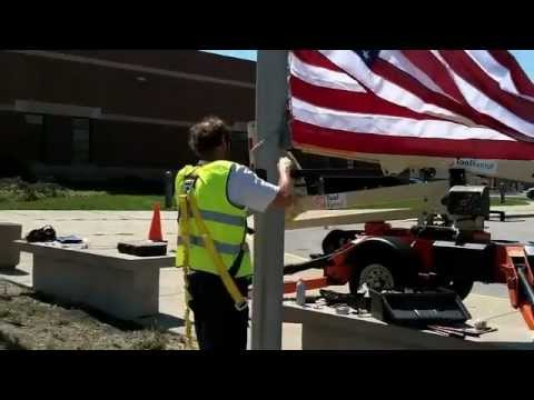 FlagDesk.com | Commercial Flagpole Maintenance - Stainless Steel Cable | East Chicago, Indiana