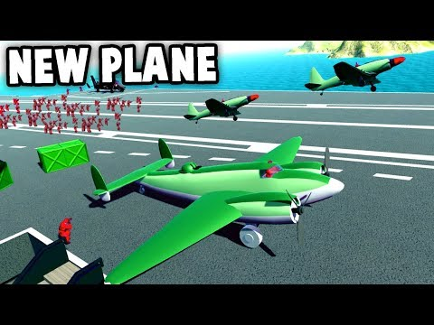 NEW Huge PLANE!  Twin Engine Plane with Turret!  (Ravenfield New Update Gameplay Early Access)