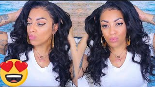 MELT THAT LACE FRONTAL | WATCH ME INSTALL & SLAY THIS WIG w/ Baby Hairs  feat JACKSUNWIG.com