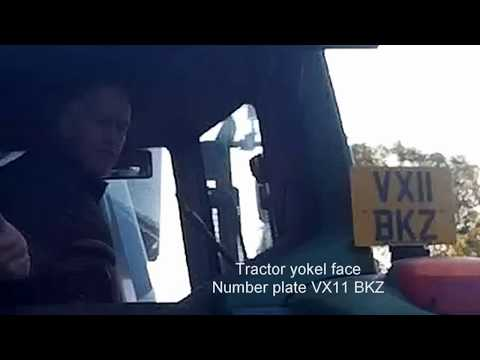 VX11BKZ - Tractor yokel to cyclist: move over!