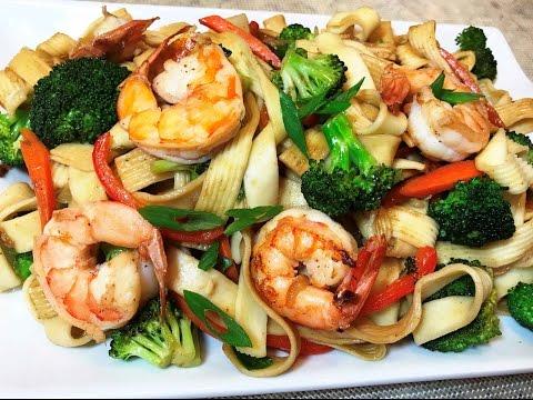 Рис с овощами и креветками кулинарный рецепт