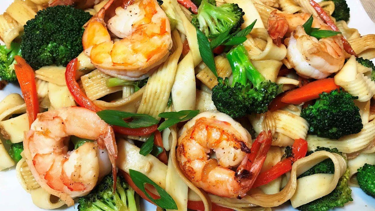 ПАСТА С КРЕВЕТКАМИ И ОВОЩАМИ за 15 мин. Вкуснейший Ужин. Pasta with Shrimp and Vegetables