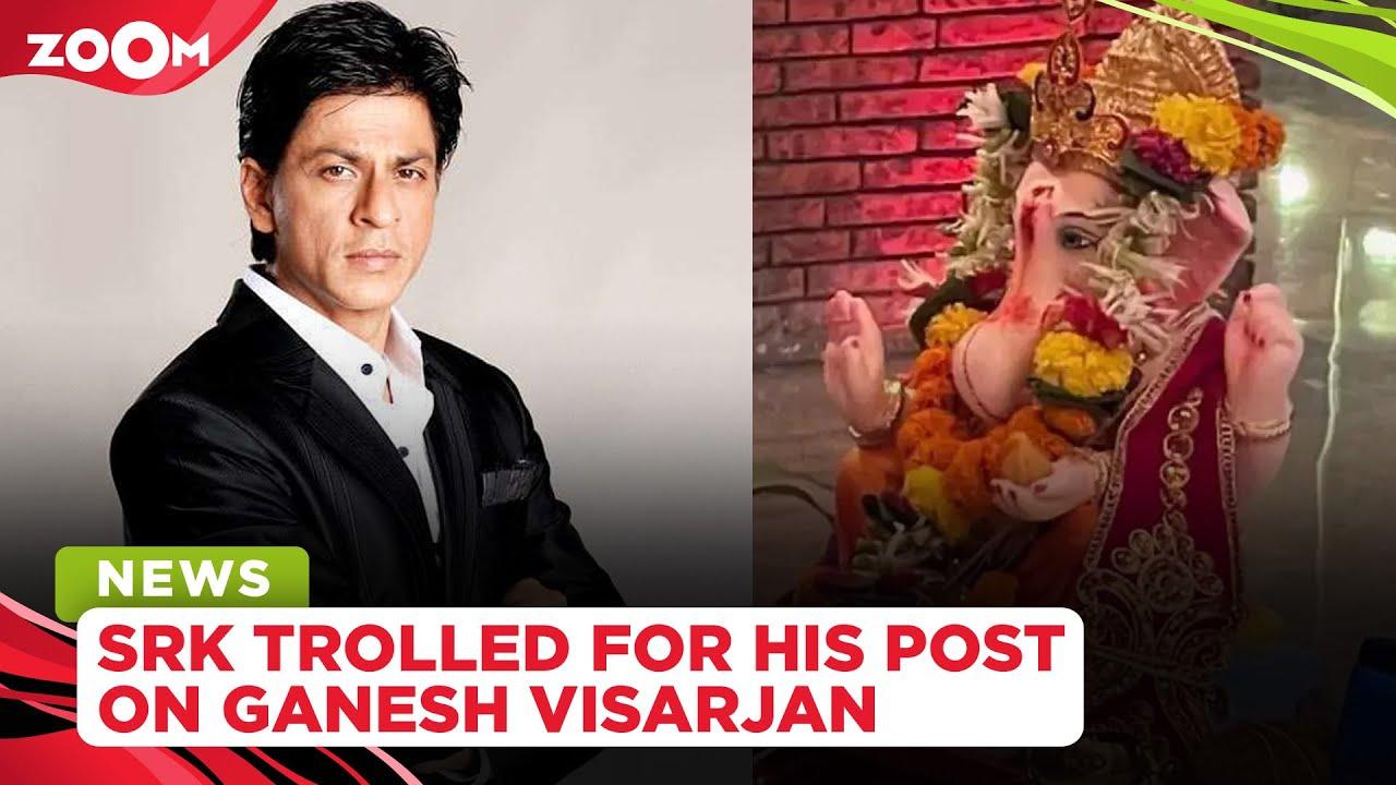 Shah Rukh Khan brutally trolled for sharing a post on Ganesh Visarjan
