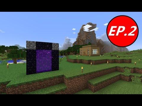 Minecraft เอาชีวิตรอด (1.8.8) #2 -  สำรวจ Nether