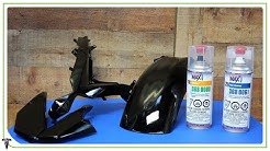 How to Paint Motorcycle Fairings pt.3 | Paint and Clear Coat | Ride Rehab ep. 16