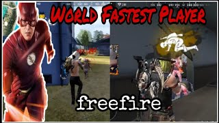 World Fastest Player In Free Fire ||Who Is Fastest Player||B2K vs Ben Laden