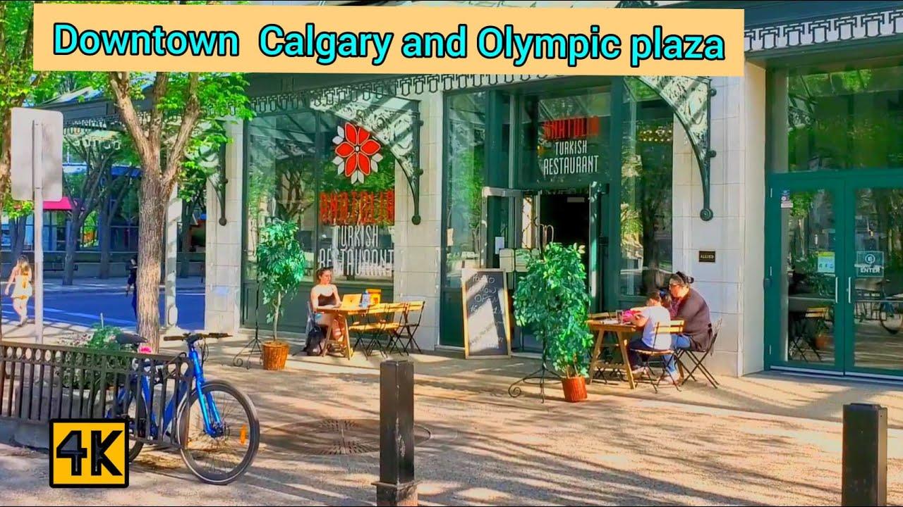 Calgary Downtown and Olympic Plaza walk during heat warning 2021. #Calgary #dowontowncalgary #yyc