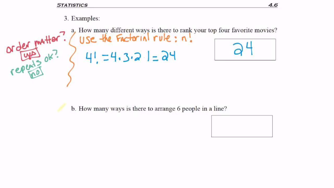 4  Factorial Rule Examples