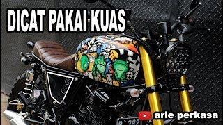 modifikasi scrambler + Cat Lukis Kuas