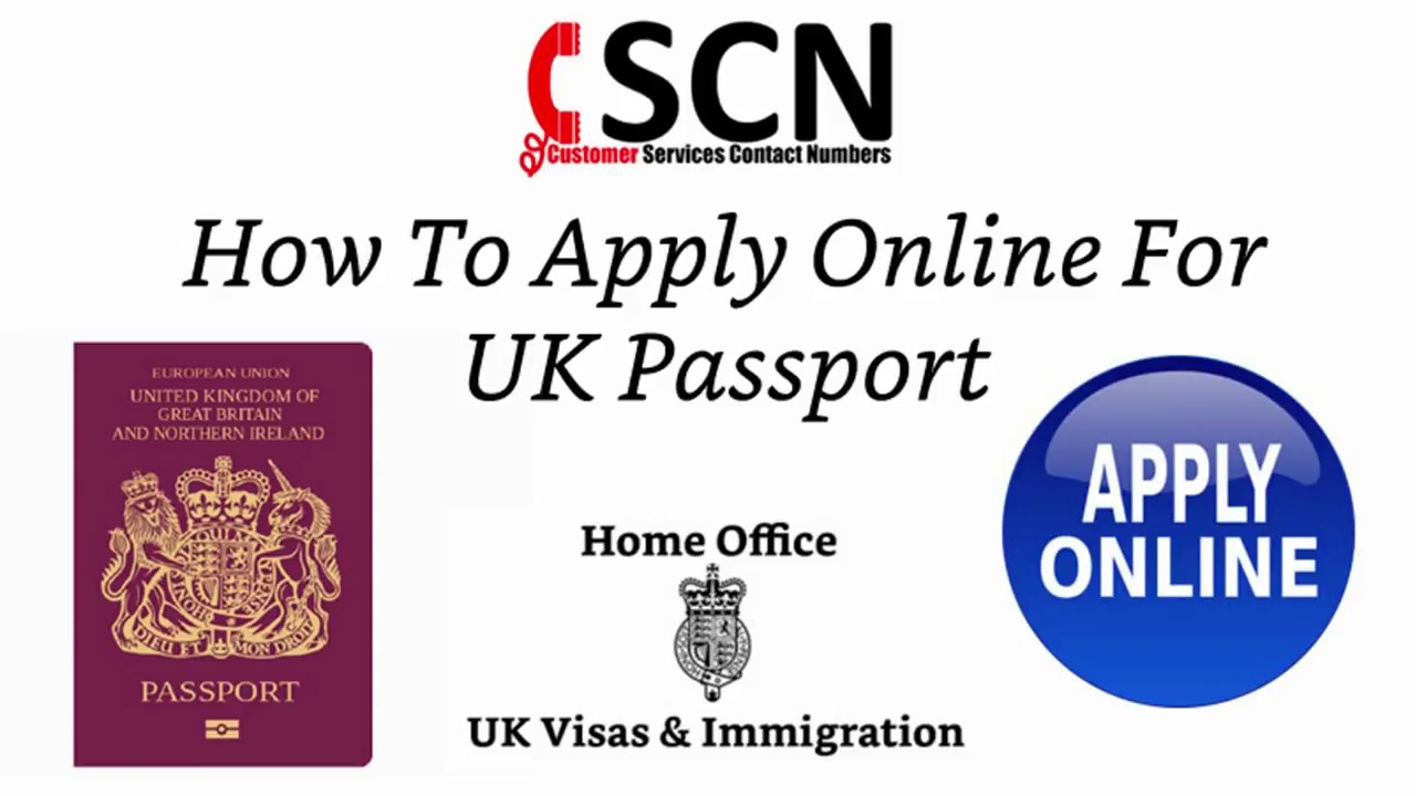 How To Apply Online For UK Passport - YouTube