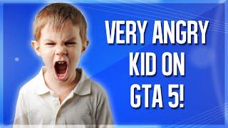 GTA 5: Very Angry Kid Rages Online!