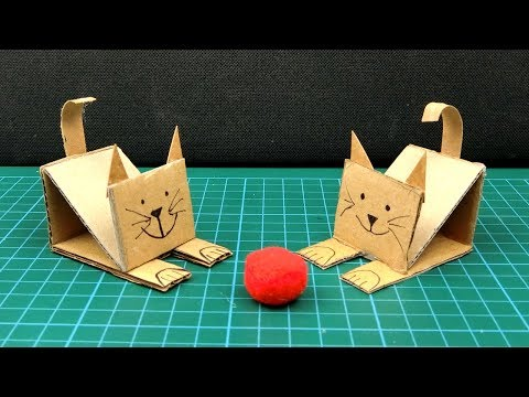 How to Make Cardboard Animal #66 - DIY Cat and Horse From Paper