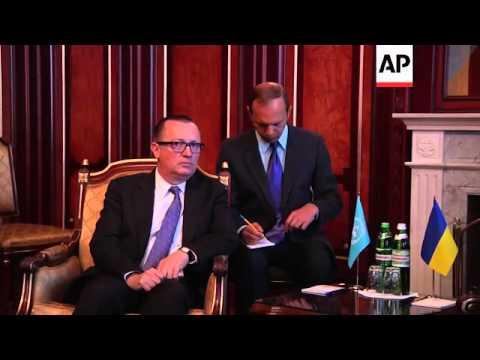 UN political chief Jeffrey Feltman meets Ukrainian president Turchynov