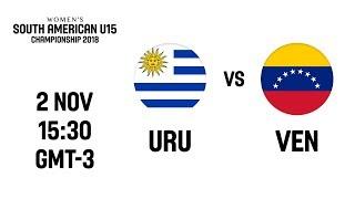 L VE   Uruguay V Venezuela   South American U15 Womens Championship 2018