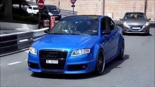 Audi RS4 - BRUTAL SOUND !! in Monaco