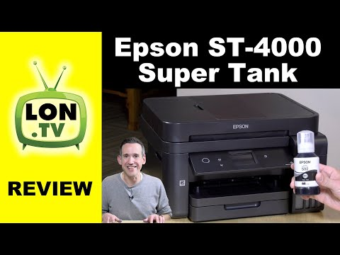 Epson Super Tank ST-4000 Printer Review - Years of Ink?