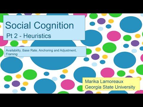 Social Cognition   2   heuristics
