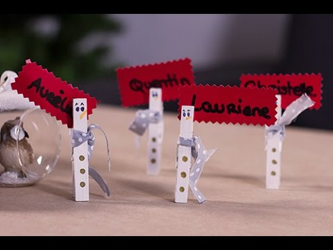Diy no l marque place bonhomme de neige youtube for Decoration de maison pour noel