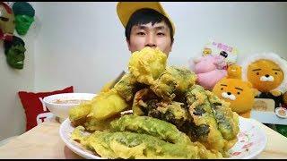 [Flower Pig]꽃돼지 모듬튀김 튀김킬러 먹방 [twigim]mukbang Eating Show