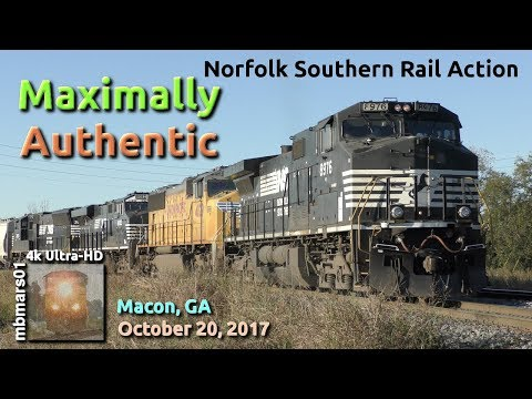 [5U][4k] Maximally Authentic Norfolk Southern Rail Action, M