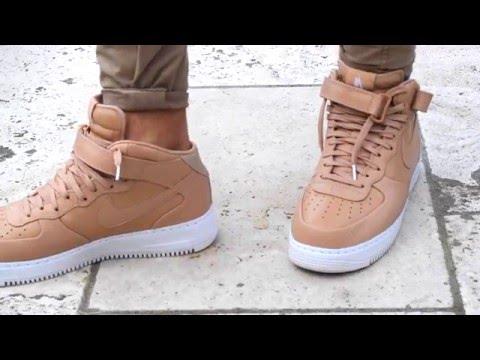 Nike Air Force 1 NIKELAB VACHETTA TAN W/On Feet - Unboxing - Bulletproof Superfly