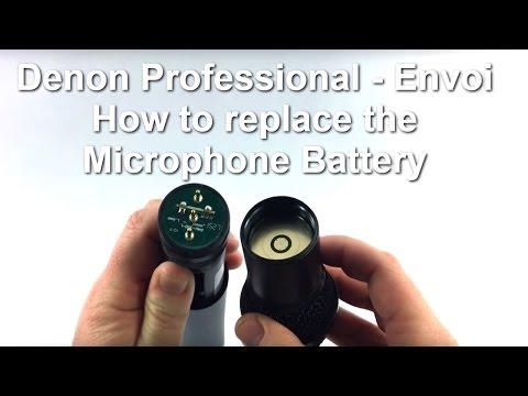 Denon Pro Envoi And Marantz Pro Voice Rover - Microphone Battery Compartment