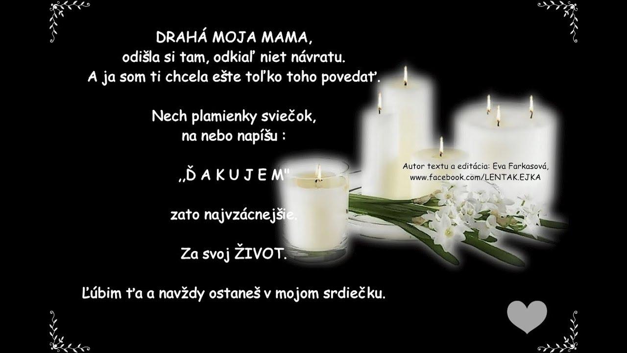ca4d822be POZDRAV DO NEBA - pre mamu ♥ - YouTube