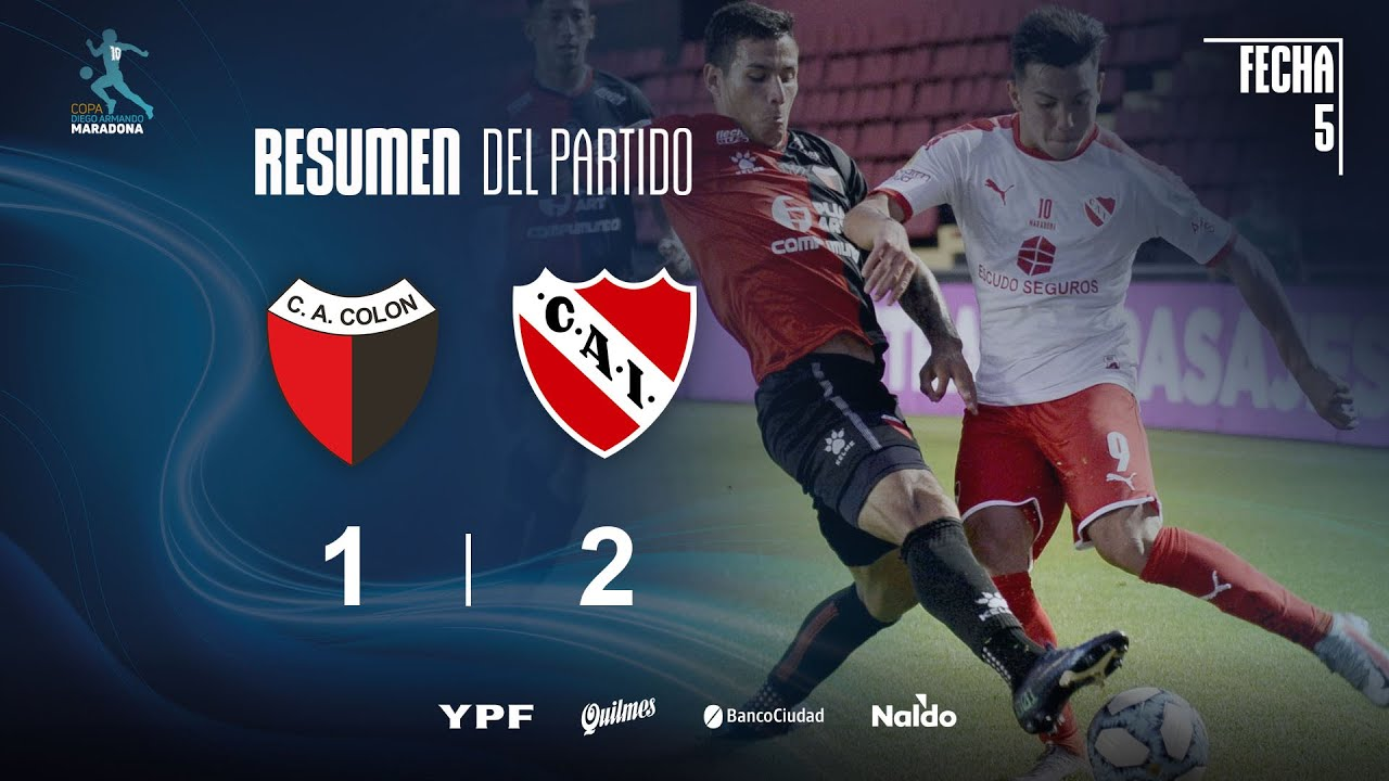 Copa Diego Maradona | Fecha 5 | resumen de Colón - Independiente