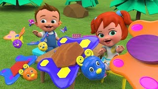 Learning Shapes for Kids with Little Babies Fun Play Butterfly Shapes Toy Set 3D Children Toys