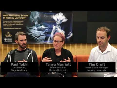 Weta Workshop School at Massey University Q&A session 2 | Massey University
