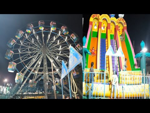 Exhibition in kurnool || giant wheel || Break dance || water boating || jumping kids in exhibition