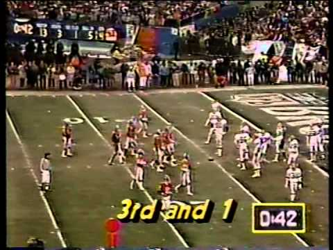 Broncos vs. Browns (The Drive), 1987.