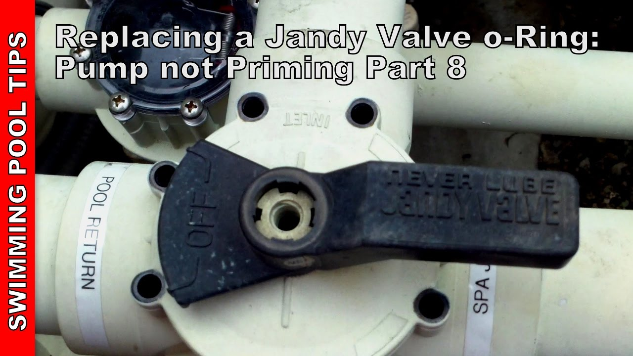 Replacing The Jandy Valve O Rings Pool Pump Not Priming