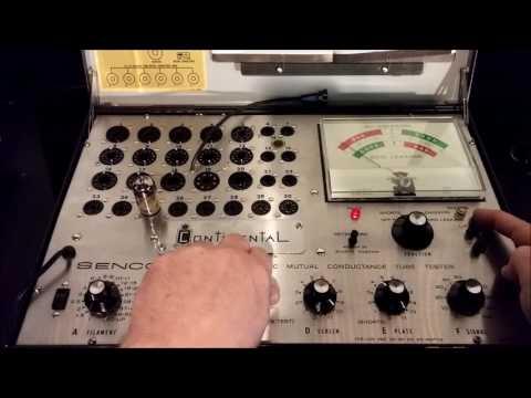 Sencore MU-140 Vacuum Tube Testing - Gm Emissions - Life Test (Part 1)
