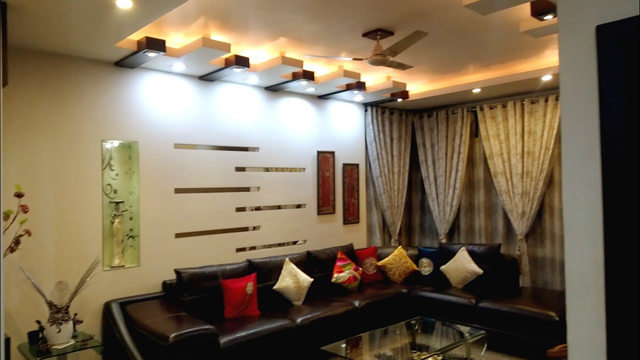 Simple And Beautiful 3 Bhk Flat Interiors At Lucknow Youtube