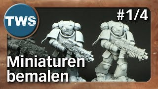 Tutorial: Miniaturen bemalen #1/4 / painting miniatures (Tabletop-Zubehör, TWS)