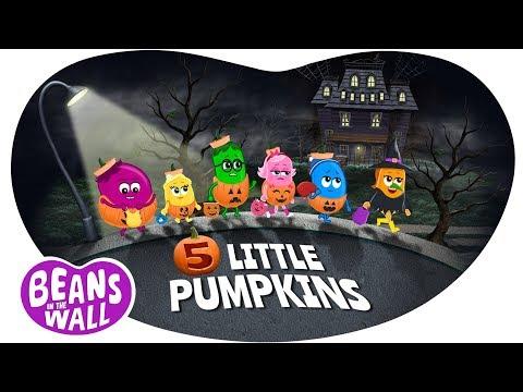 5 Little Pumpkins   Kids Songs  Beans in the Wall