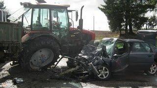 #2 Tractor crash, Аварии Тракторов,Tractor accident compilation 2015