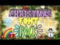 Popular Christmas Fonts Pack | Christmas Editing Pack! | EditingCity!
