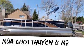 Vlog 1004 ll ĐI VẬN CHUYỂN THUYỀN VỀ NHÀ. Boating Season In Michigan 🚣♀️