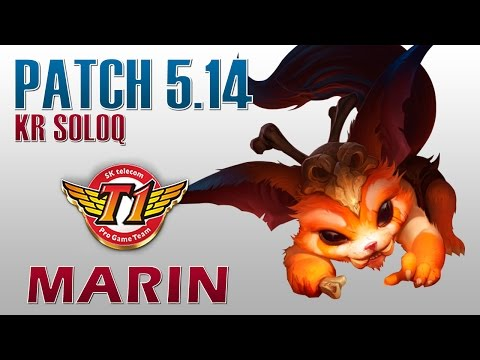 SKT T1 MaRin - Gnar Top Lane - KR SoloQ