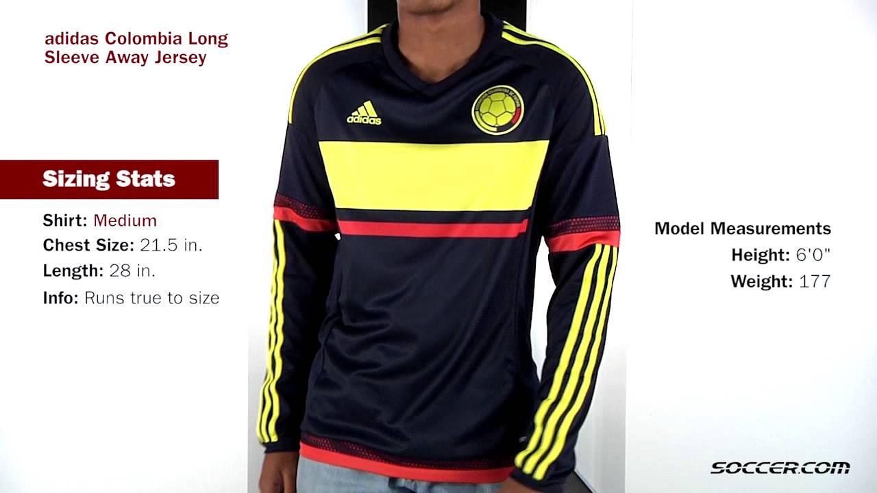 adidas Colombia Long Sleeve Away Jersey 2015 - YouTube e5d2b5fa8