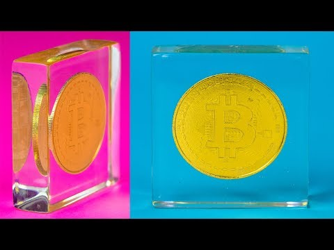 DIY Bitcoin in Epoxy Resin #ARTRESIN